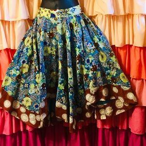 Anthropologie cotton circle skirt 4